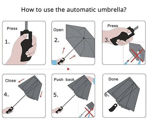 How to use automatic umbrella