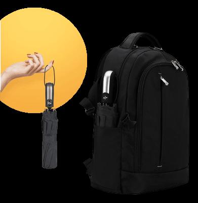 Windproof compact umbrella