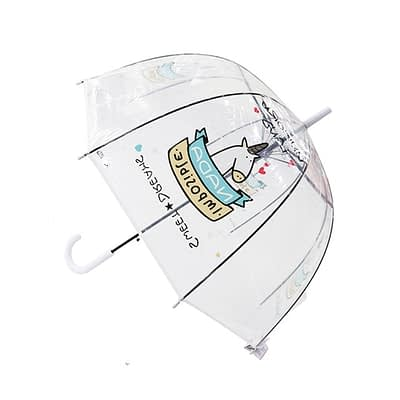 Kids transparent umbrella