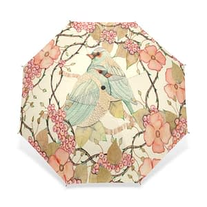 Bird flower art umbrella