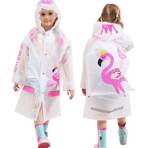 Flamingo waterproof raincoat