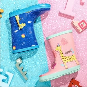 Kids animals rain boots