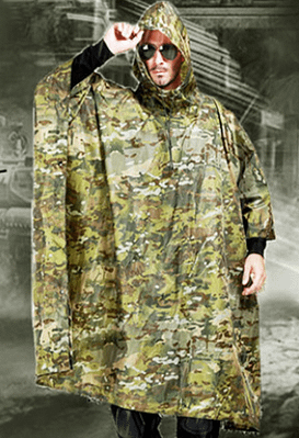 Men outdoor poncho
