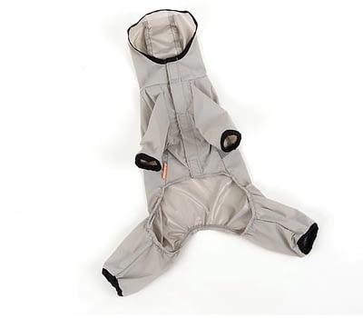 Gray doggie raincoat