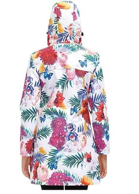 printed waterproof rain jacket