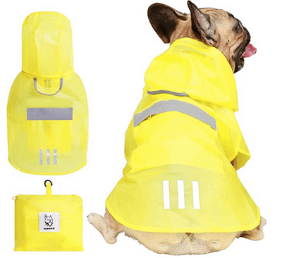 Puppy adjustable raincoat