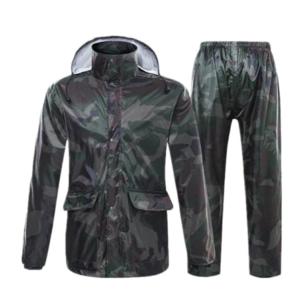 Camouflage adult raincoat