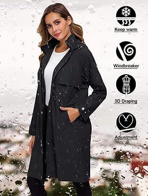 elegant lightweight rain jacket