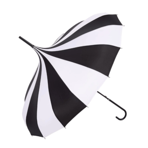 Black white pagoda umbrella