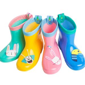 Children rubber rain boots