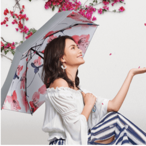 Pocket flower umbrella