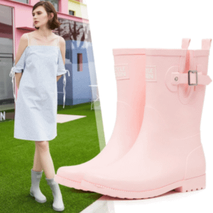Mid-calf rubber boots
