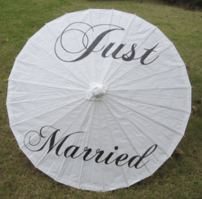 Just married umbrella