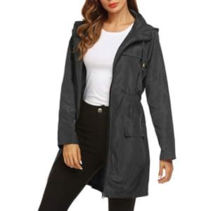 Lightweight travel raincoat