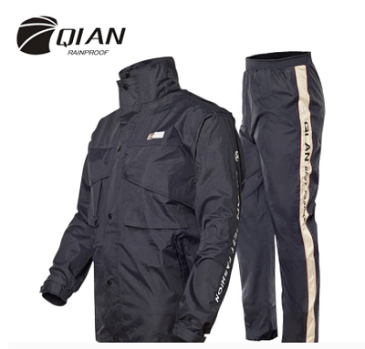 Hooded outdoor raincoat