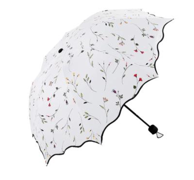 Beautiful flower parasol