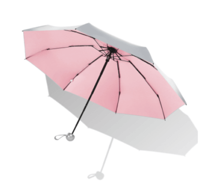 Silver pocket umbrella