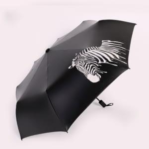 Zebra painting umbrella