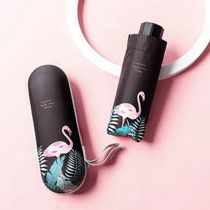 Flamingo capsule umbrella