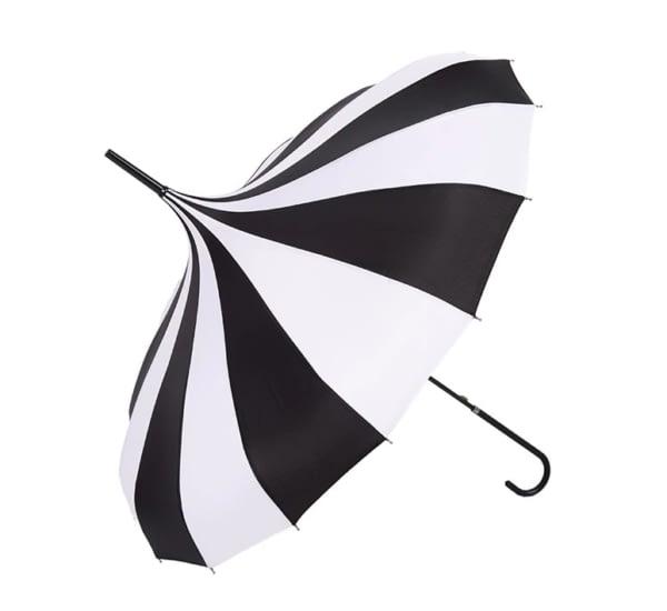 Black white pagoda umbrella