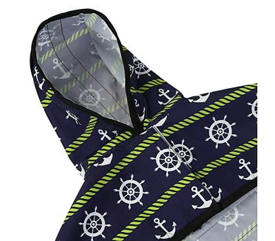 hooded slicker poncho