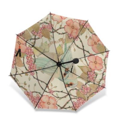 Bird flower art umbrella