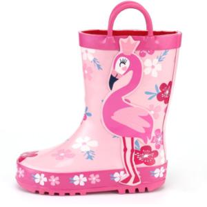girl flamingo rain boots