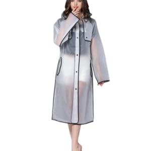 Women long raincoat
