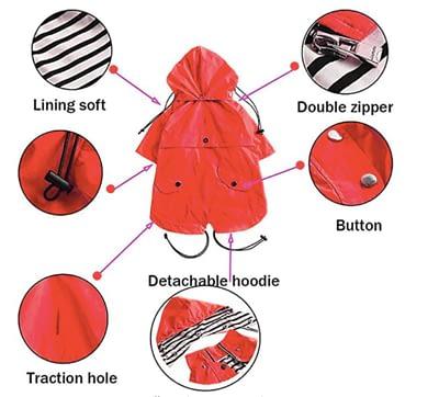 Stylish premium dog raincoat