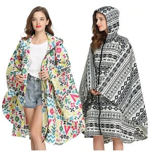 Female waterproof poncho