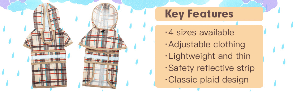 Doggie rain poncho