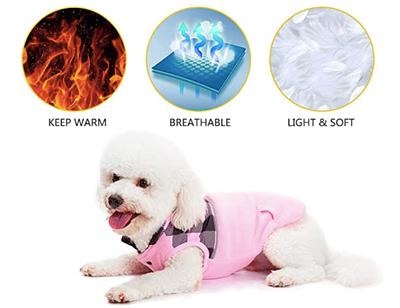 Polar fleece dog coat