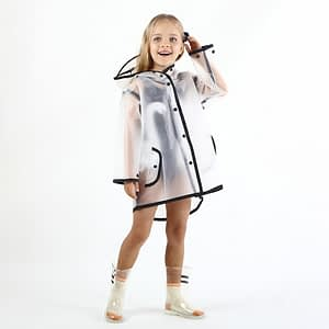 Transparent children raincoat