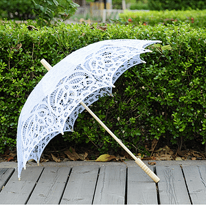 Handmade lace umbrella